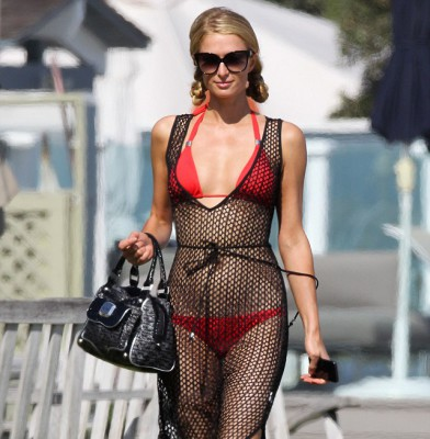 Paris Hilton is enjoying the beach life to a hilt