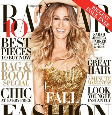 Sarah Jessica Parker covers US Harper's Bazaar Magazine