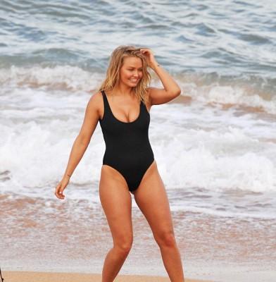 It was a 'wild' photoshoot for model Lara Bingle