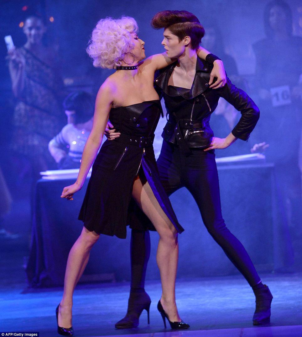 Danny zuko black t shirt - Coco Rocha And Karlie Kloss Show Their Dance Moves