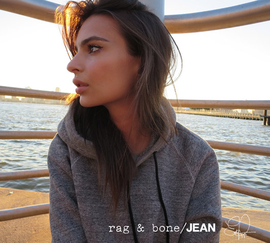 Blurred Lines beauty Emily Ratajkowski is the face of Rag & Bones D.I.Y. Project