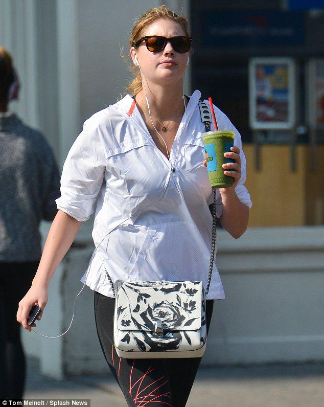 Kate Upton on a health kick?