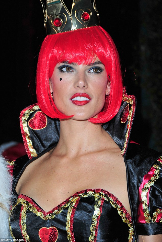 It's that time of year again and Alessandra Ambrosio sizzles as the Queen of Hearts