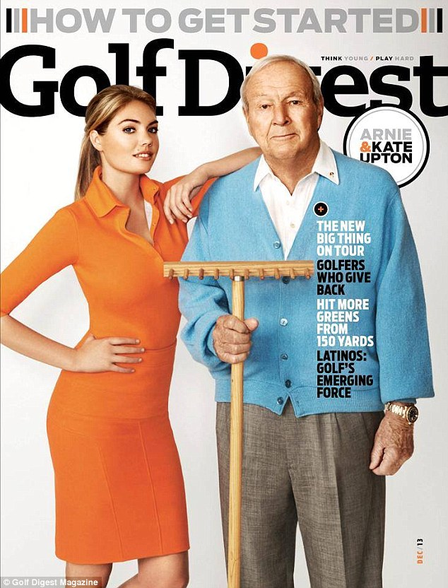 Kate Upton fronts cover of Golf Digest's December issue