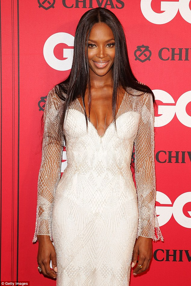 Naomi Campbell is a dream in white at GQ Awards