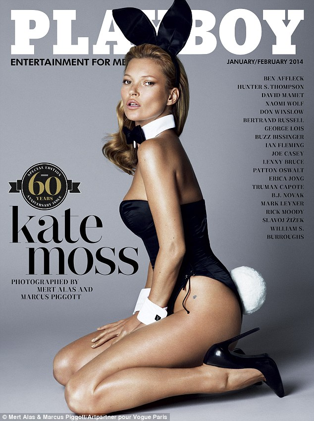 Kate Moss becomes a sexy rabbit for Playboy