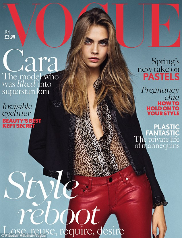 Expensively chic, Cara Delevingne covers British Vogue