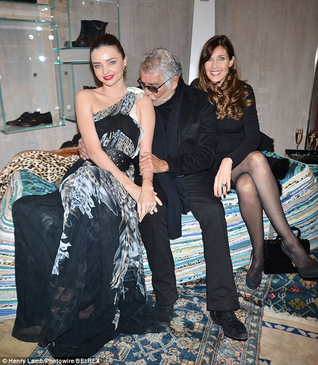 Miranda Kerr is simply irresistible, isn\'t that right, Roberto Cavalli?