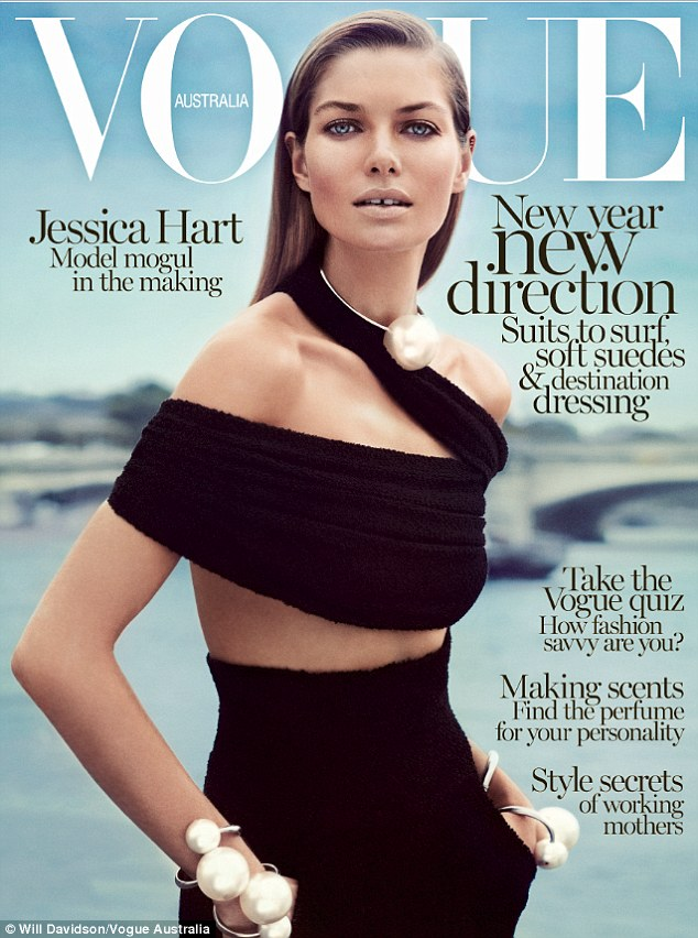 Slick Chic, Jessica Hart covers Vogue Australia