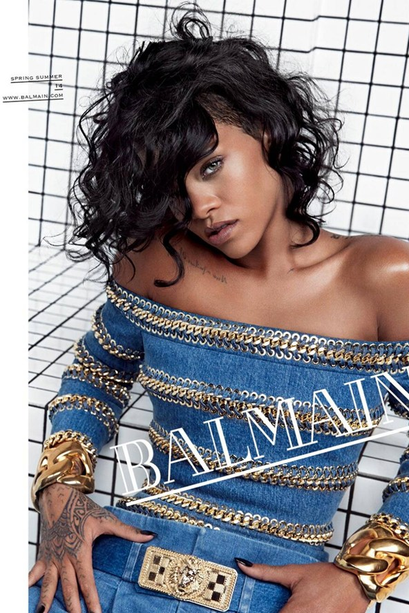 Rihanna is the new face of Balmain