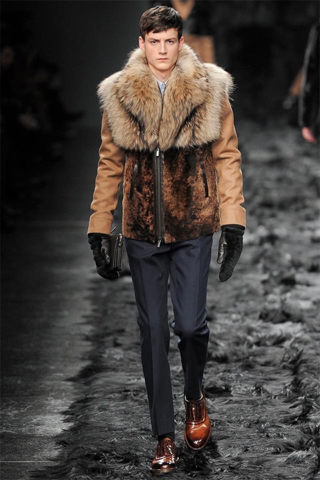 Bloody fashion show in Milan