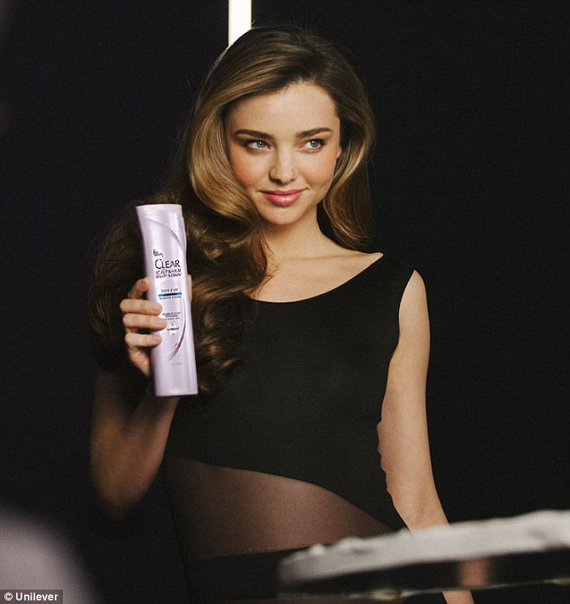 Miranda Kerr is the new spokesperson for Clear Haircare