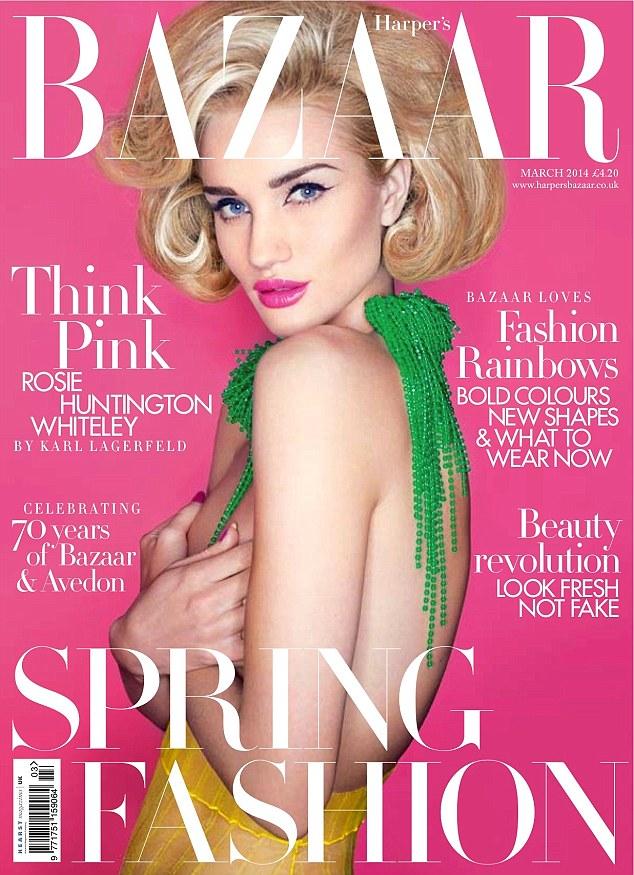 Rosie Huntington-Whiteley covers Harper\'s Bazaar UK