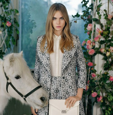 Cara Delevingne and friends for the new Mulberry campaign