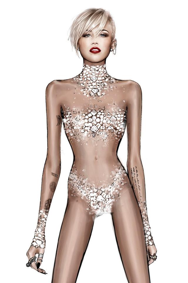 Roberto Cavalli creates designs for Miley Cyrus tour