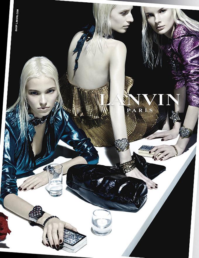 Irene Hiemstra, Julia Nobis and Sasha Luss for Lanvin