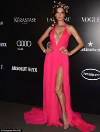 Alessandra Ambrosio sizzles at Vogue Brazil party