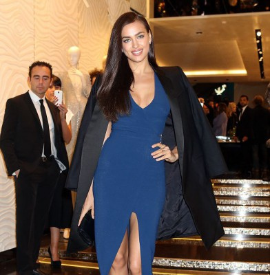 Irina Shayk turns heads at Roberto Cavalli store opening