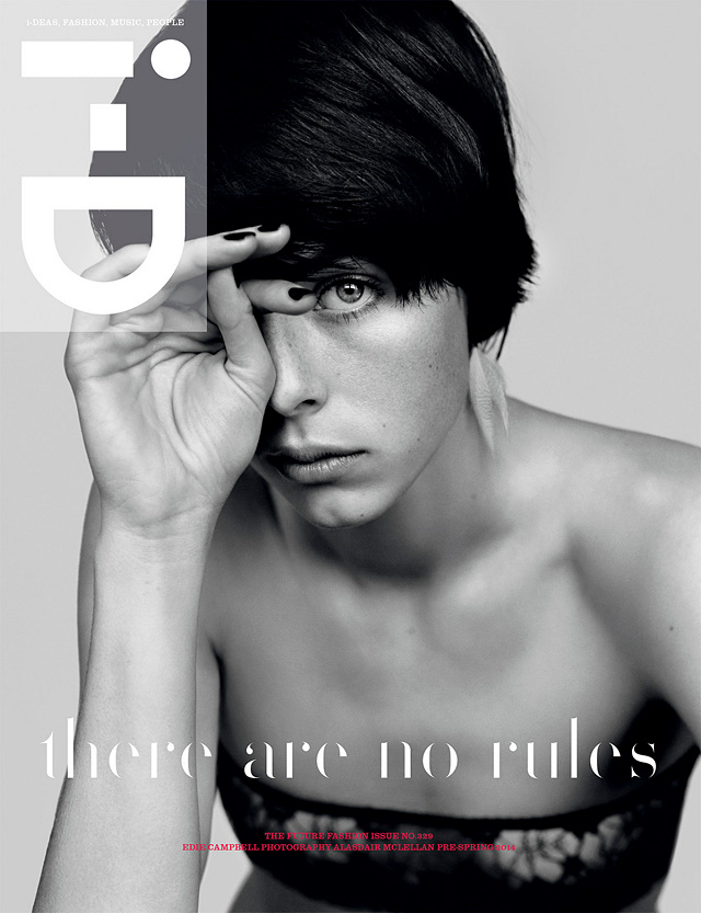 Edie Campbell graces the cover of i-D