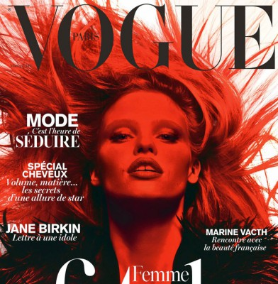 Lara Stone covers French Vogue