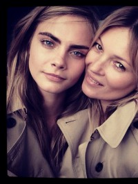 Burberry brings Kate and Cara together