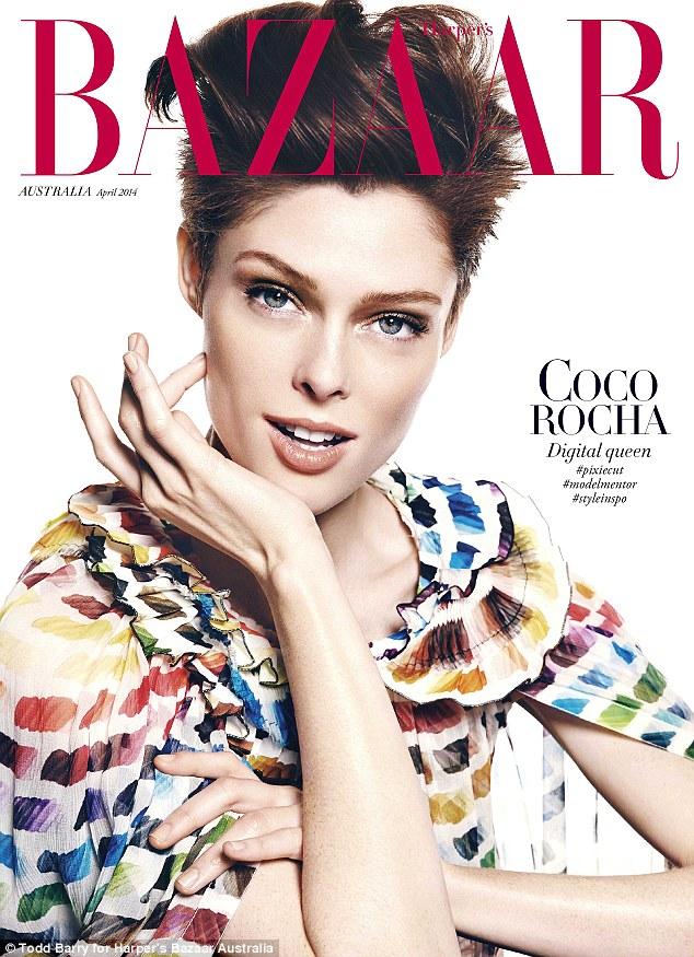 Coco Rocha covers Harper\'s Bazaar Australia