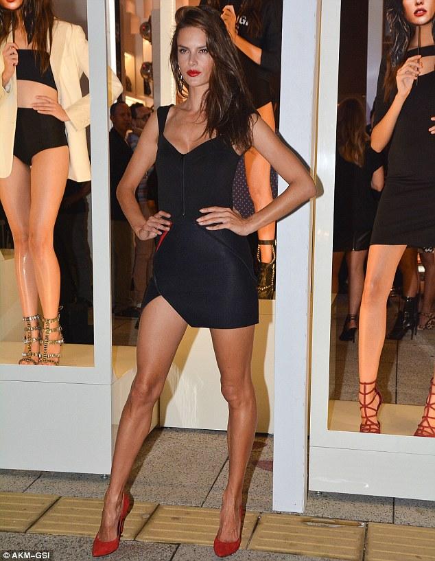 Alessandra Ambrosio turns heads in LBD