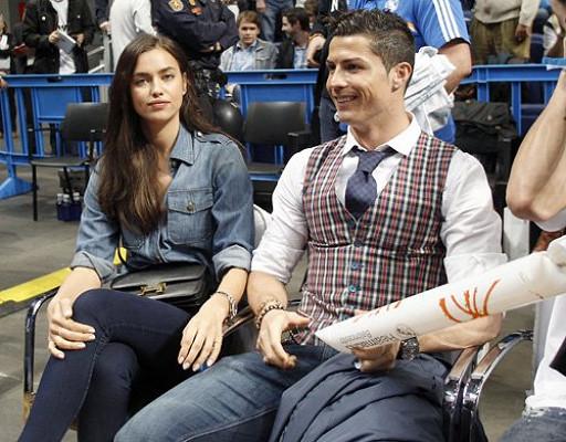 Irina and Cristiano support Real Madrid basketball team