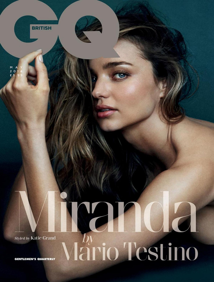 Miranda Kerr bares it all for British GQ