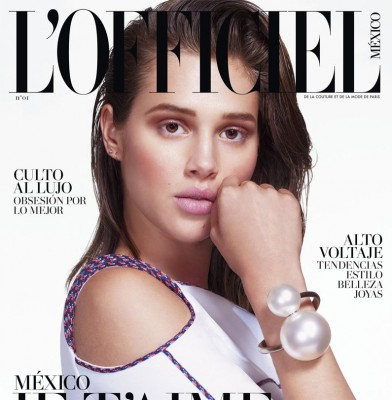 Anais Pouliot covers debut issue of L\'Officiel Mexico