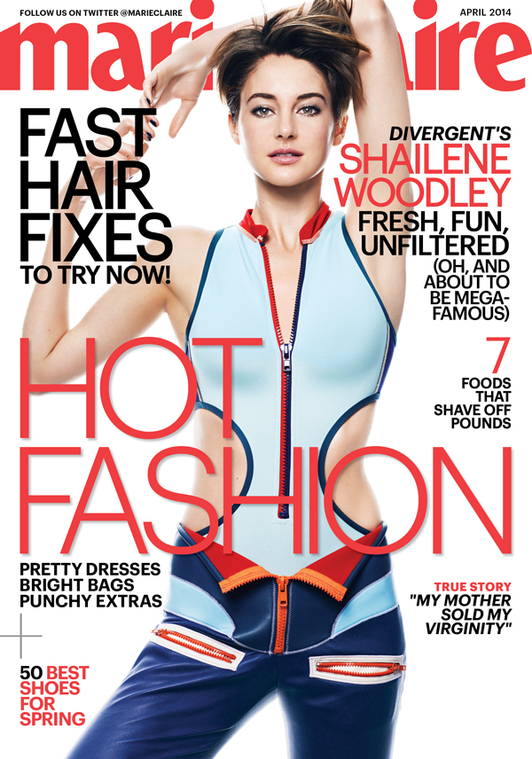 Shailene Woodley covers Marie Claire US