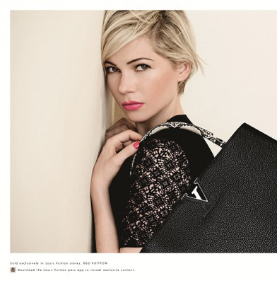 Michelle Williams fronts Louis Vuitton accessories campaign