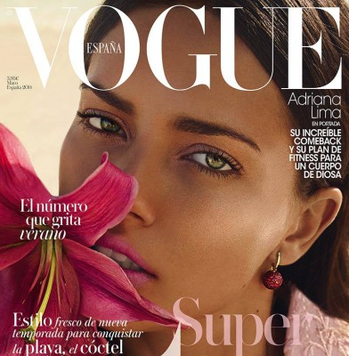 Adriana Lima cover Vogue Spain
