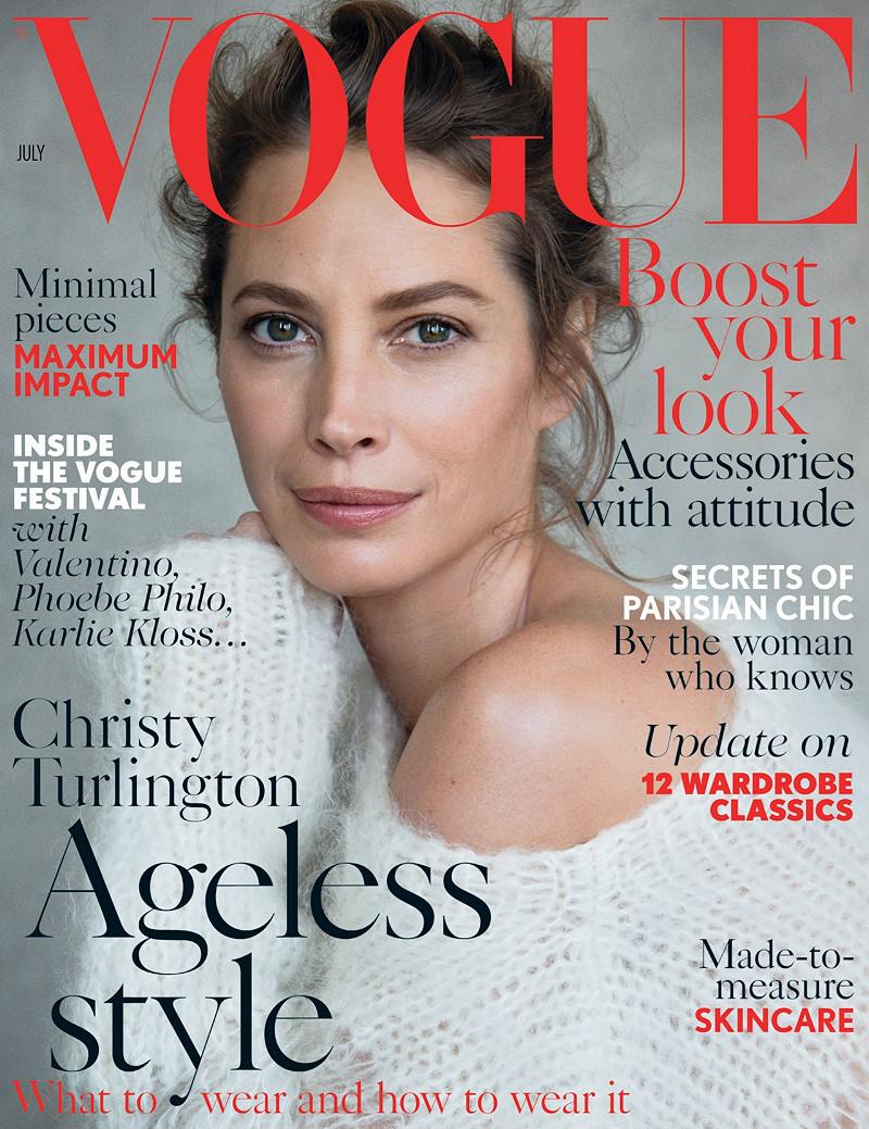 Christy Turlington covers British Vogue