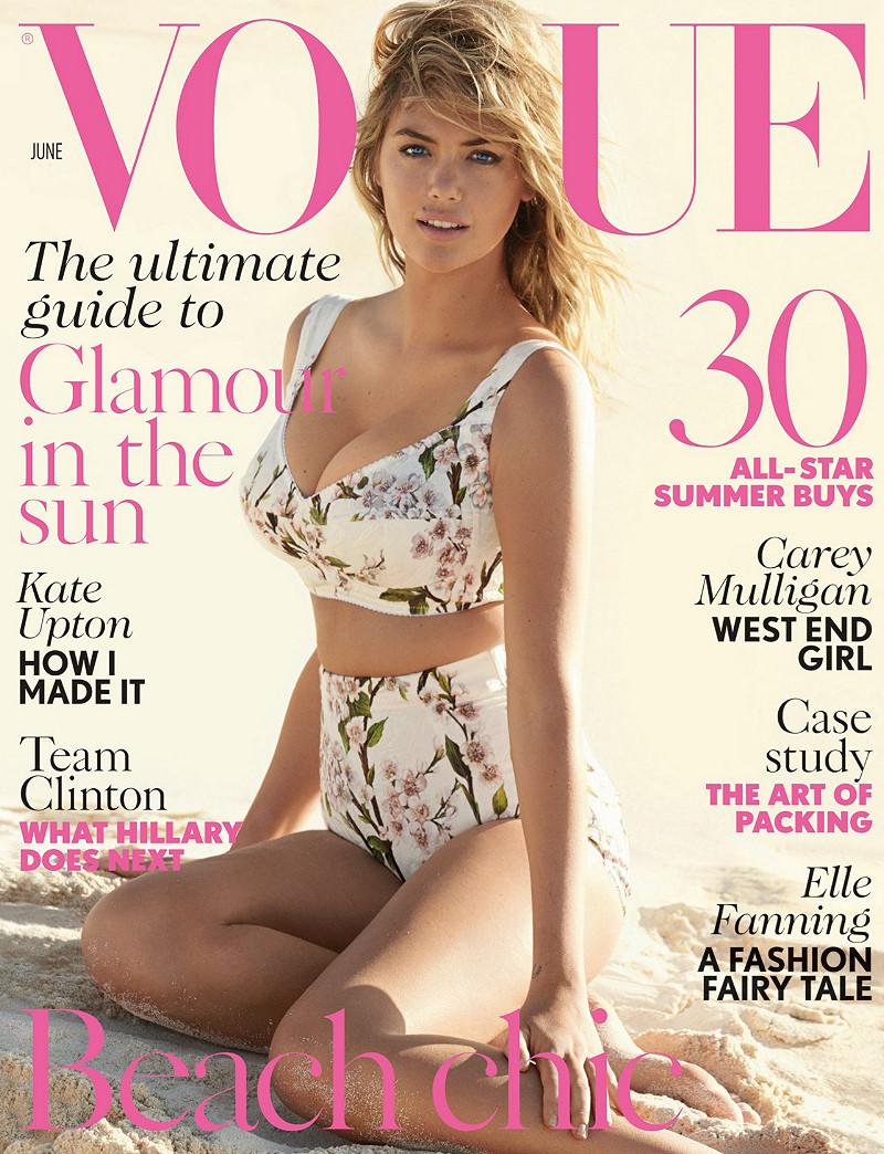 Kate Upton covers Vogue UK