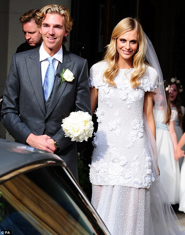 Poppy Delevingne gets hitched in a custom Chanel gown