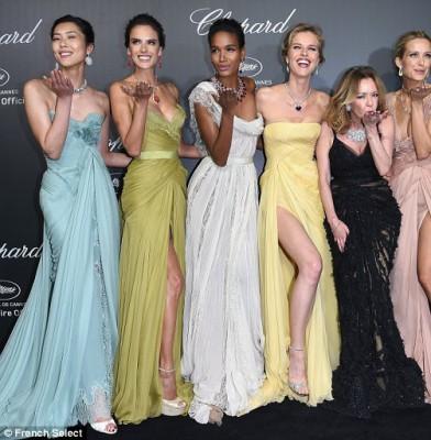 Supermodels shine at Chopard Cannes Bash
