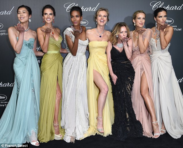 Supermodels shine at Chopard Cannes Bash
