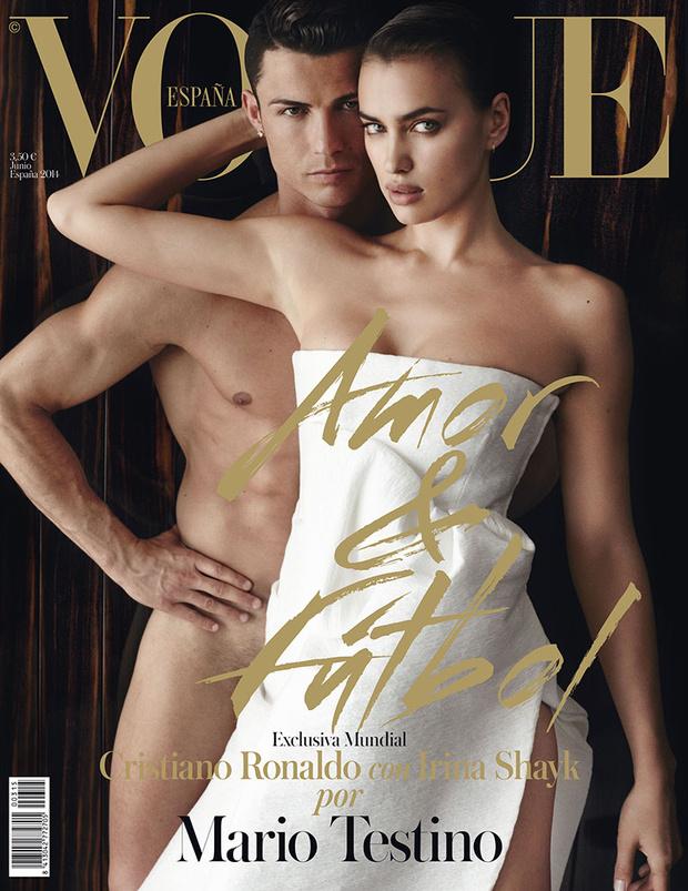 Cristiano Ronaldo & Irina Shayk appear sexy on Vouge Spain's cover