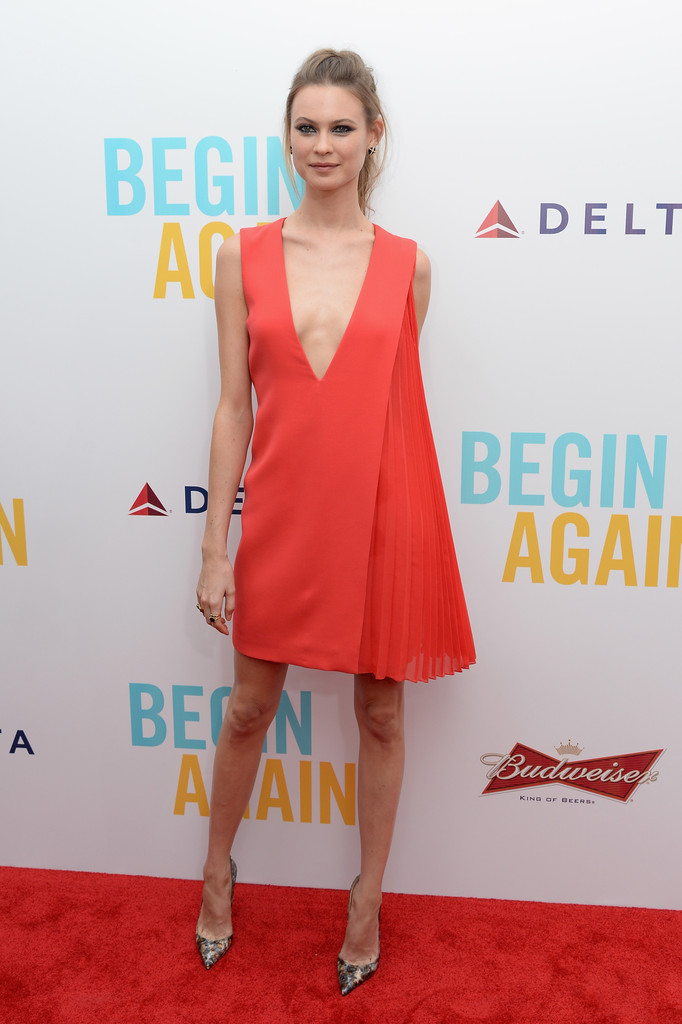 "Behati Prinsloo smoulders at ""Begin Again"" premiere"
