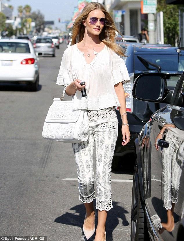 Rosie Huntington-Whiteley looks white hot in LA