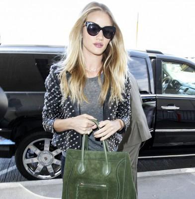 Rosie Huntington-Whiteley stylishly jets out of LAX