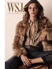 Daria Werbowy Goes Retro For WSJ Magazine