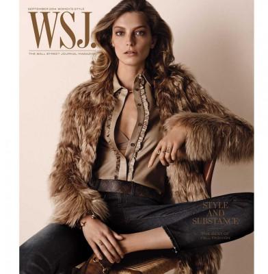 Daria Werbowy Goes Retro For WSJ Magazine