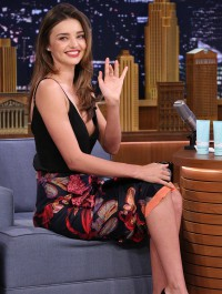 Miranda Kerr dazzles during appearance on The Tonight Show