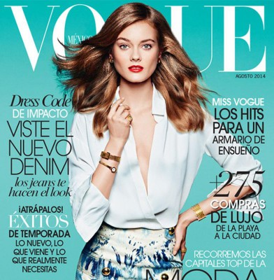 Monika Jagaciak covers Vogue Mexico