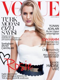 Rosie Huntington Whiteley Fronts Vogue Turkey August Issue