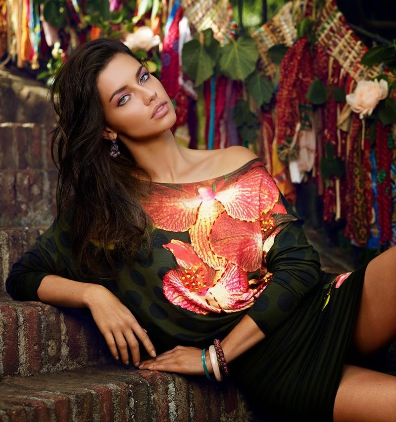 Adriana Lima Shines In Desigual�s Fall 2014 Campaign