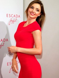 Miranda Kerr launches Escada fragrance in Munich amidst Orlando-Beiber drama