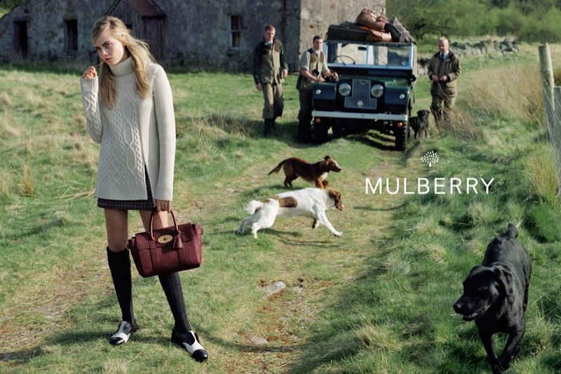 Cara Delevingne Returns For Mulberry�s Autumn Winter 2014 Campaign